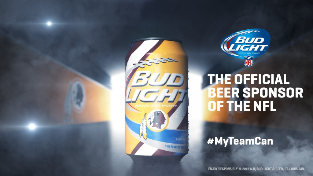 Washington Redskins Bud Light Can