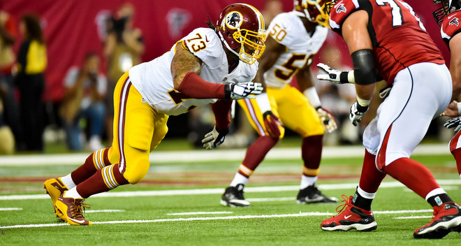 Redskins DT Ziggy Hood to Miss Season Finale with Fractured Elbow